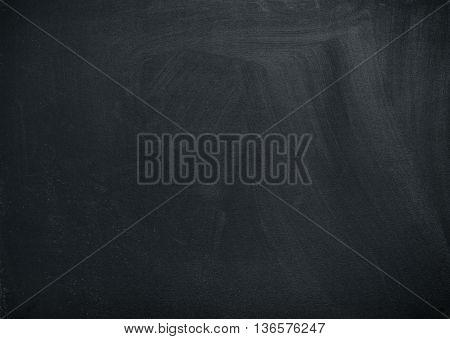 Empty black school board for creative ideas. Chalkboard