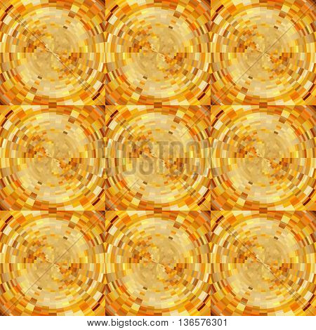 Abstract Mosaic Background in Gold Colors for Design