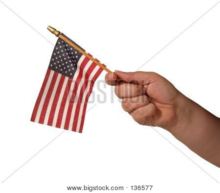 Hand With Flag
