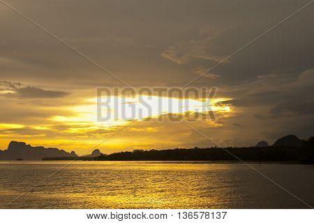 Beautiful Golden Orange Sunset
