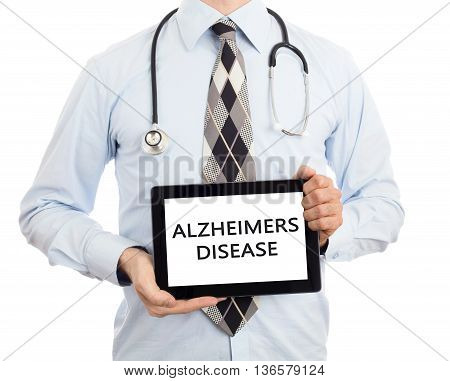 Doctor Holding Tablet - Alzheimers Disease