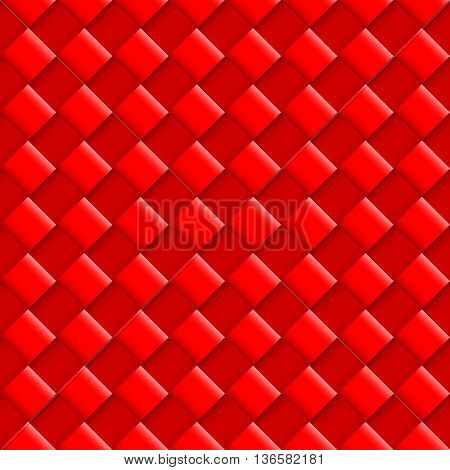 Red Seamless Pattern with Convex Square Design