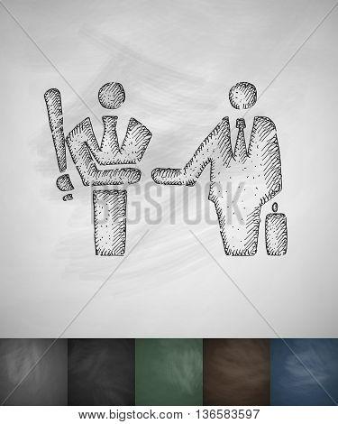 agreement icon. Hand drawn vector illustration. Chalkboard Design