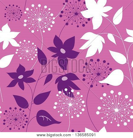 The stylish seamless pattern with a flowers
