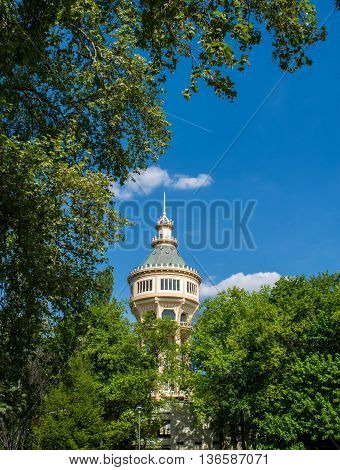 Water tower in Margaret Island Budapest Hungary