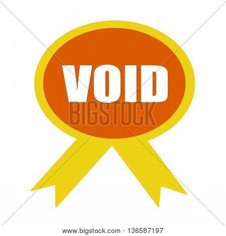 void white wording on background Orange ribbon