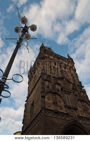Powder Tower in Prag in the sky