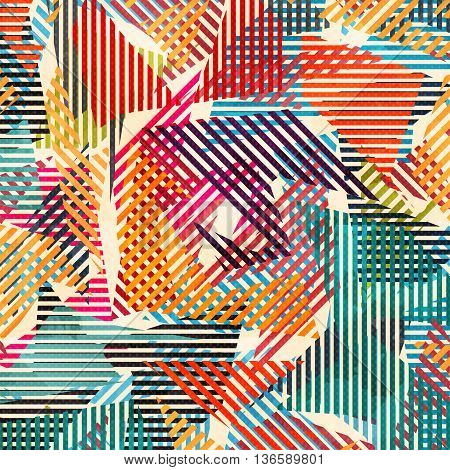 graffiti color geometric  pattern vector illustration abstract high quality