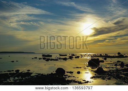 Estonia Tallinn,Jun 2016, Sunset on the Baltic Sea,district: Kakumäe beach
