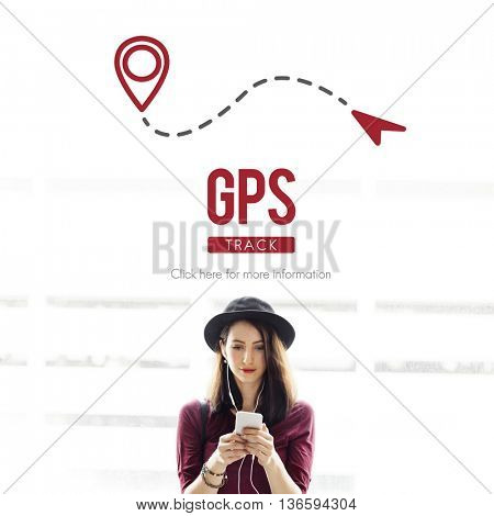 GPS Global Position Search Technology Track Concept