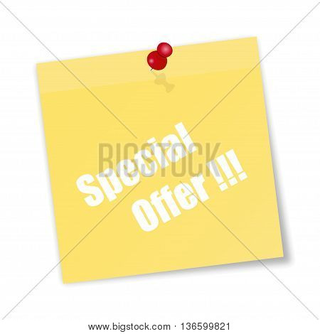 Yellow Paper Sticky With Descriptions Special Offer