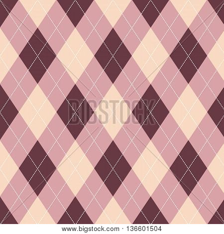 Seamless argyle pattern. Diamond shapes background and texture.