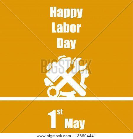 International Labour Day 1 May Orange Background