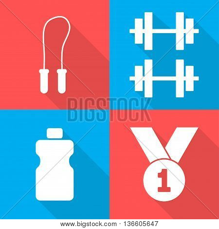 Four Sports Icons Vector Graphics