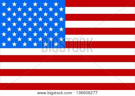 Flag America, Memorial Day, Isolated, Vector Illustration