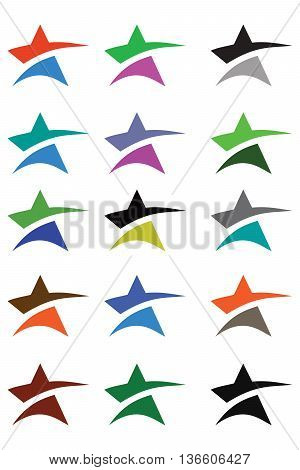Abstract star icon design template elements star shape