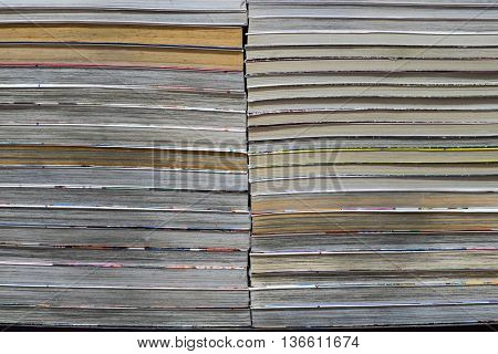 Book stacking in a row for education background