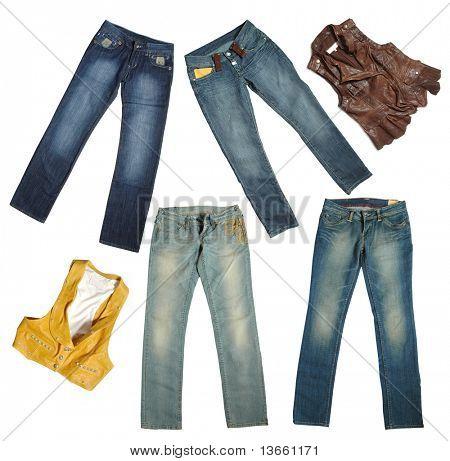 Jeans und Jacke