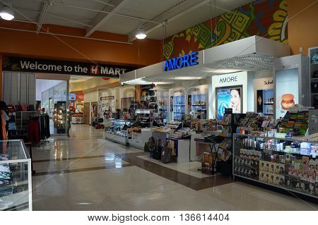 NAPERVILLE, ILLINOIS / UNITED STATES - NOVEMBER 3, 2015: One may purchase Amore Pacific, Iope, and Laneige cosmetics and skin care products in Naperville's H Plaza.