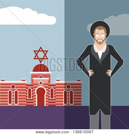 Vector image of the jew jewdaism banner