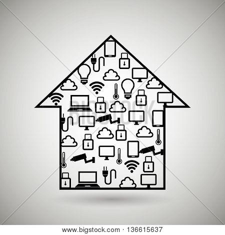 smart home with isolated icon design, vector illustration  graphic