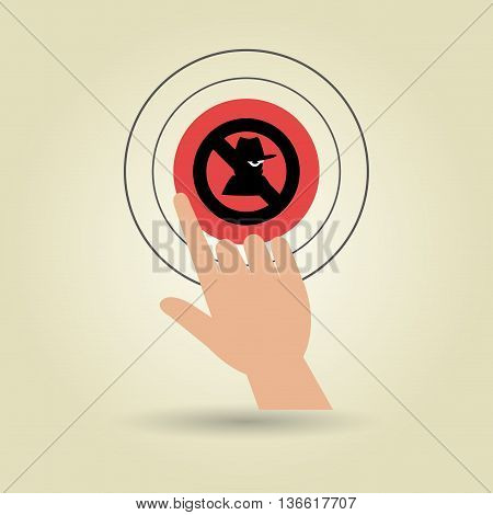 human hand selecting isolated icon design, vector illustration  graphic