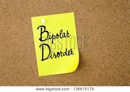 Bd Bipolar Disorder Written On Yellow Paper Note