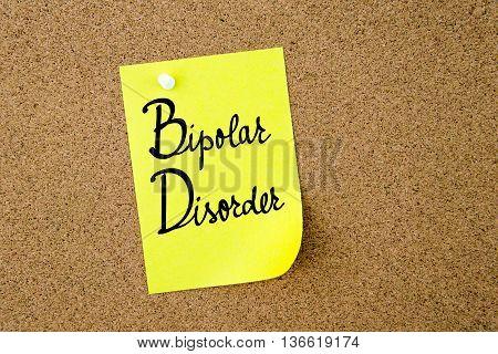 Bd Bipolar Disorder Written On Yellow Paper Note