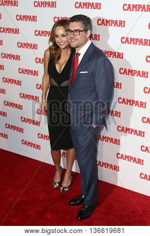 NEW YORK-NOV 18: Chef Giada De Laurentiis (L) and Gruppo Campari CEO Bob Kunze-Concewitz attend the 2016 Campari Calendar Launch Event at The Standard Hotel on November 18, 2015 in New York City.