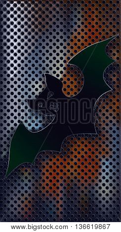 Bat against texture, objects are conveniently grouped on layers