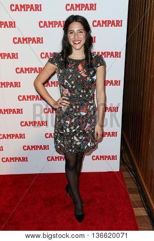 NEW YORK-NOV 18: Actress Samantha Massell attends the 2016 Campari Calendar Launch Event at The Standard Hotel on November 18, 2015 in New York City.