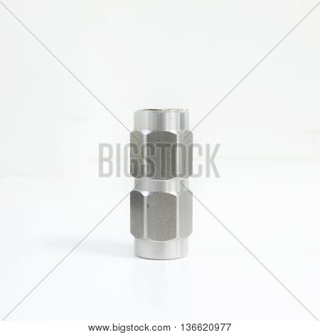 Stainless steel non return valve for fluid piping system