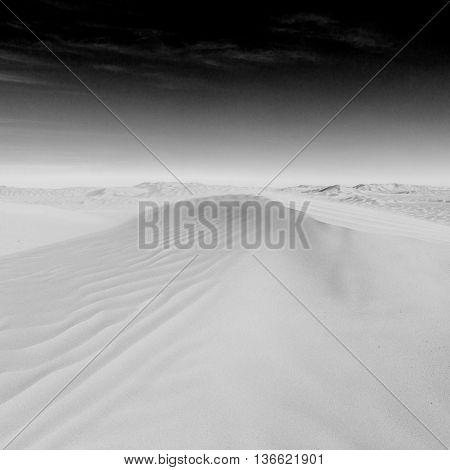 In Oman Old Desert  Rub Al Khali The Empty  Quarter And Outdoor  Sand Dune