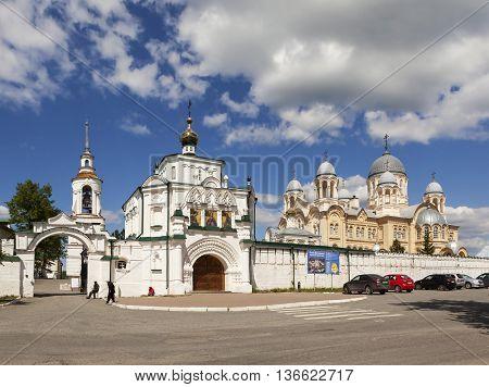 VERKHOTURYE, RUSSIA - JUNE 18, 2016: Photo of St. Nicholas monastery.