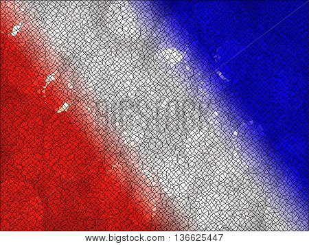 red white and blue shape on background