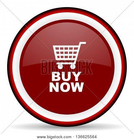 buy now round glossy icon, modern design web element