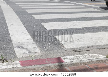 Crosswalk Zebra Walkway Across Road