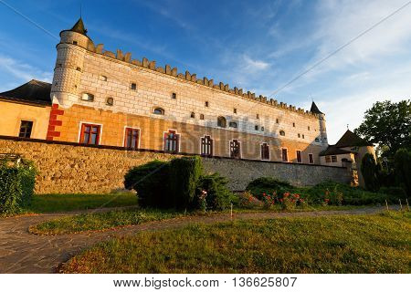 Zvolen castle late in the evening, central Slovakia.