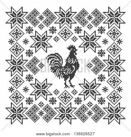 Scheme of knitting and embroidery. Vector pattern.