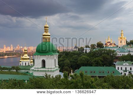 Kiev-pechersk Lavra. The Bell Tower Of The Lower Caves