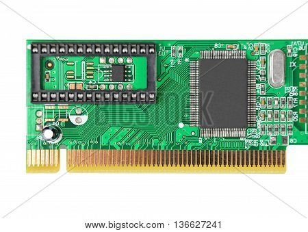 LAN network card for computer isolated on white background