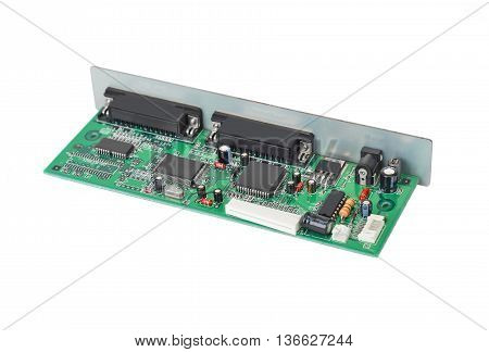Scanner motherboard board isolated on white background