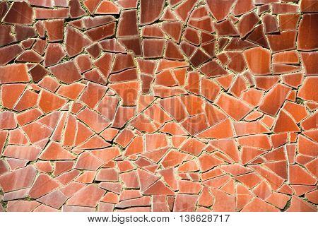 Orange Mosaic Pattern
