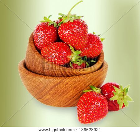 bowl with strawberries. Fresh and useful berry