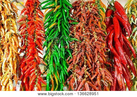 Red And Green Hot Chilly Peppers