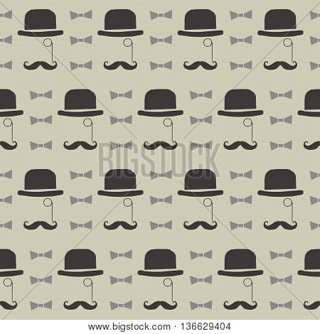 Abstract Father's Day greeting seamless pattern background.