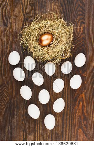 Nest And Many White Eggs