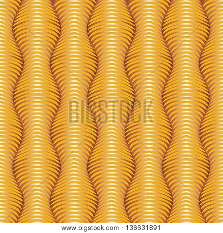 Vector horizontal seamless abstract patter background with optical illusion.