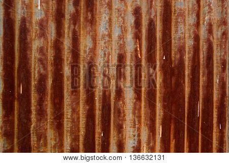 a dirty galvanized sheet for a background