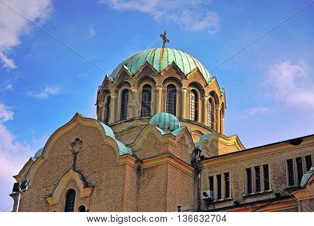 Domes of Veliko Tarnovo cathedral in Bulgaria